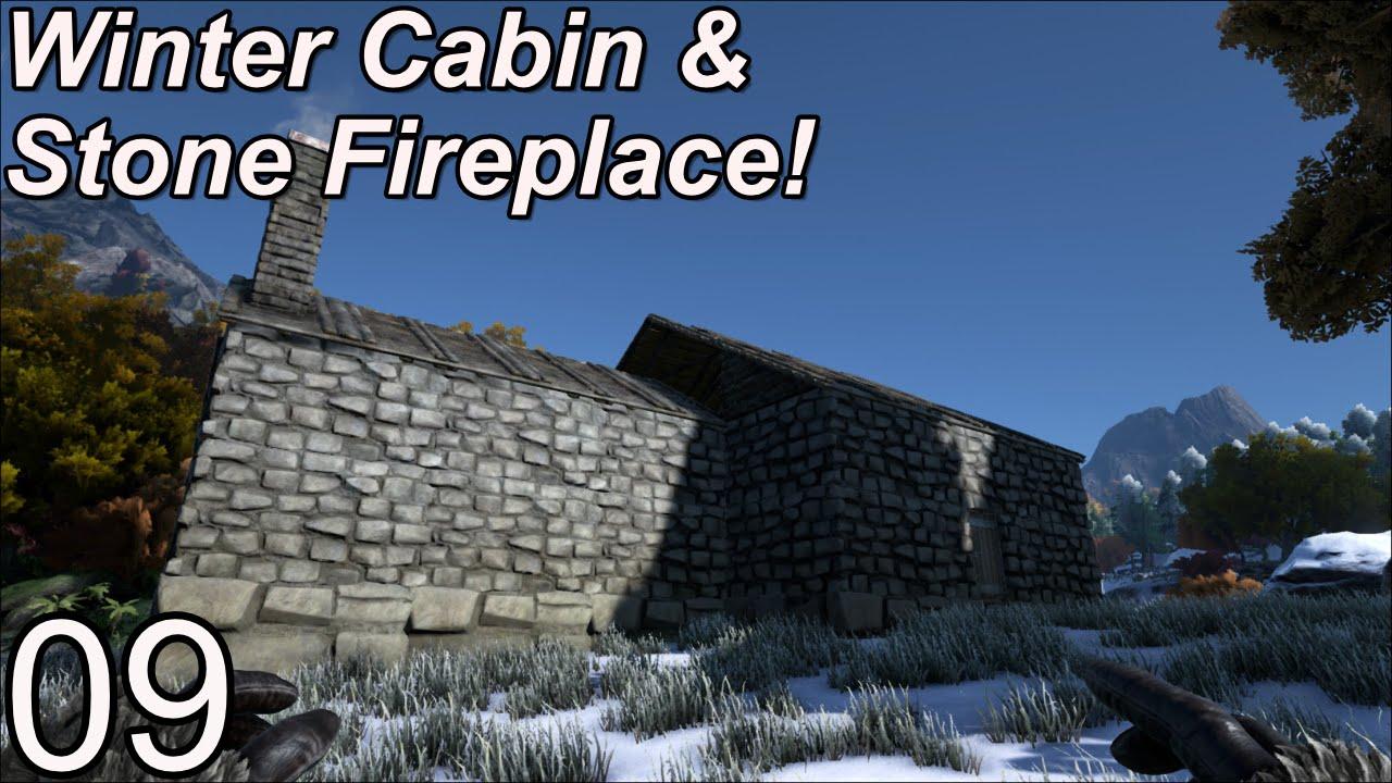 Ark Survival Evolved Server | Episode 09 | Winter Cabin with Stone ...