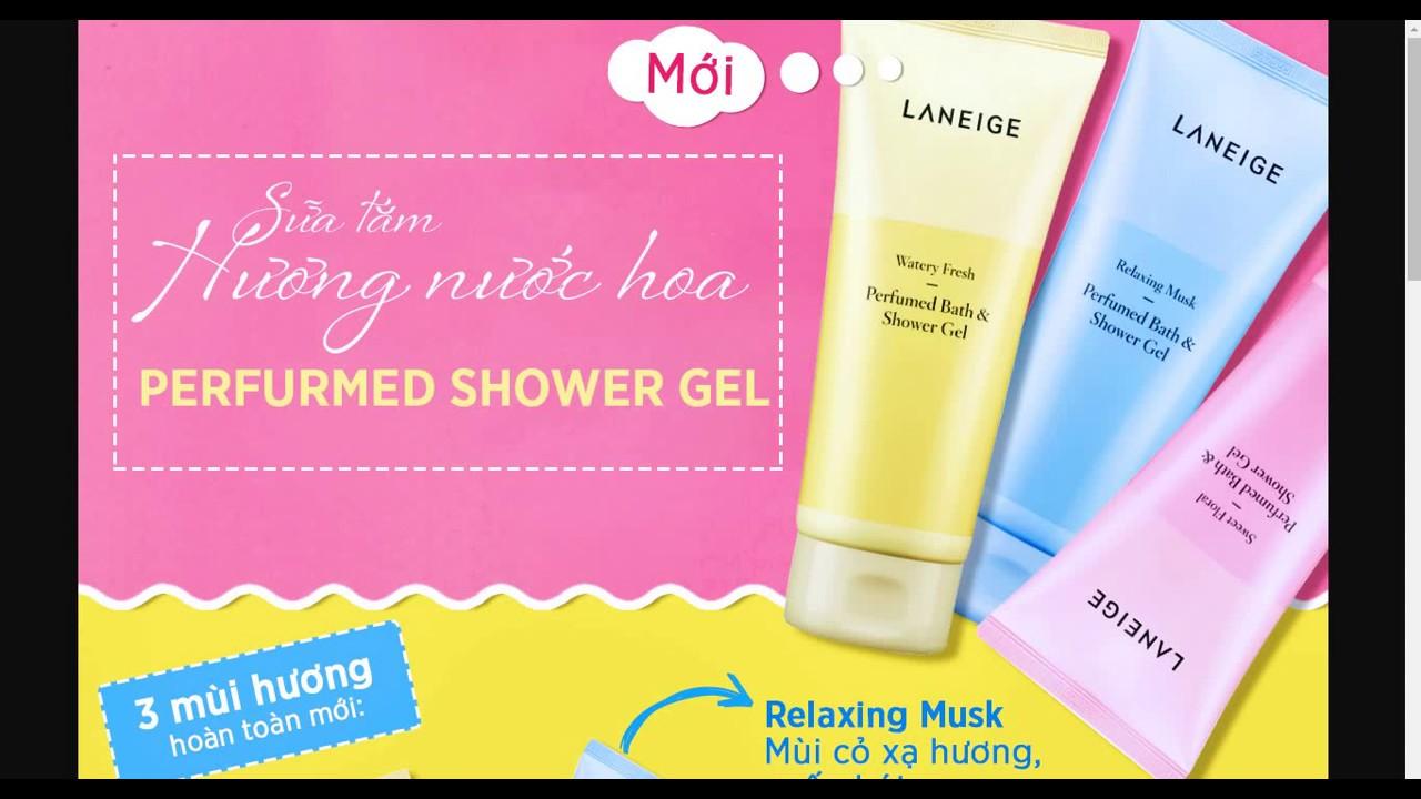 Khuyến mãi Bộ sữa tắm gel hương nước hoa Laneige Watery Fresh