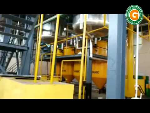 10 TPD Sunflower Oil Refinery Plant in West Africa