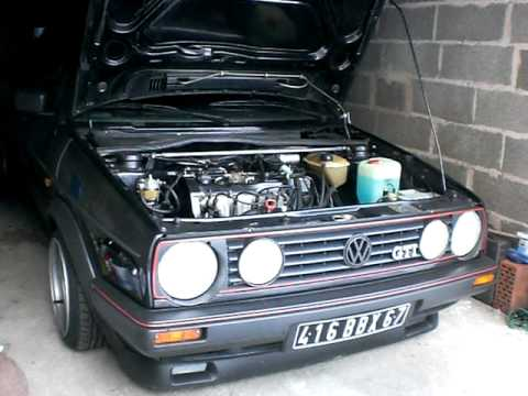 vw golf gti weber 40 cold start youtube. Black Bedroom Furniture Sets. Home Design Ideas