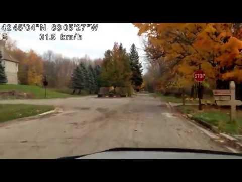 Driving from Washington Township, Michigan to Warren, Michigan