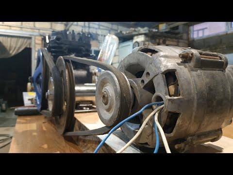 На что способен компрессор Зил с двигателем от стиральной машины