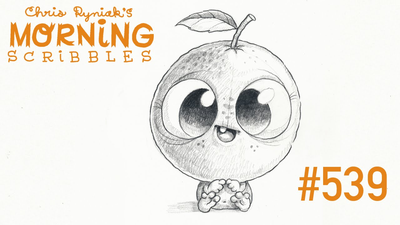 Scribbles Drawing And Coloring Book : Morning scribbles big ol orange head speed drawing