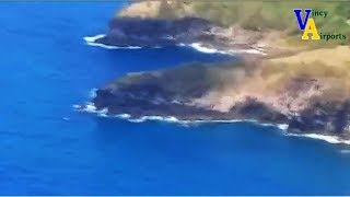 Aerial View From Argyle International Airport To Mustique Airport