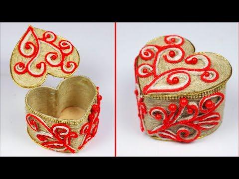 Plastic Bottle Heart Jewellery Box with Jute Rope | Jewellery Box | Plastic Bottle Jewellery Box