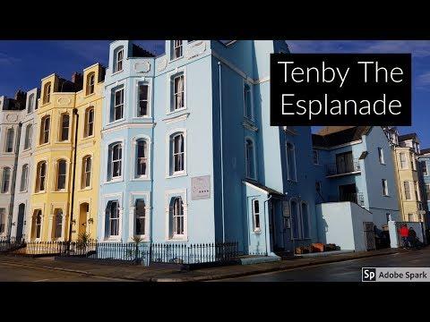 Travel Guide Tenby The Esplanade Penbrokeshire South Wales UK