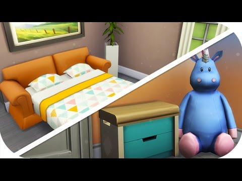the sims 4 speed build single parent starter u2014 toddler room pull out couch youtube