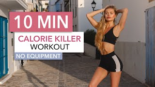10 MIN CALORIE KILLER / Medium Level - a HIIT workout that won't kill you I Pamela Reif