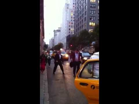 TWO GUYS FIGHTING OVER TAXI NYC - [Official]