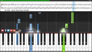 All Of Me (John Legend) || Piano Tutorial + Music Sheet + MIDI with Lyrics