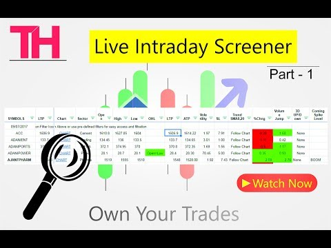 Live Intraday Screener Realtime for Trading - Part 1