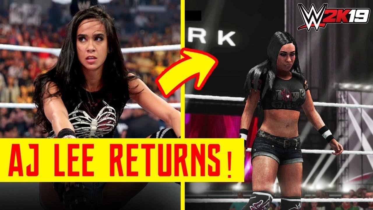 AJ Lee Makes Her Epic Return to WWE 2K19 - YouTube