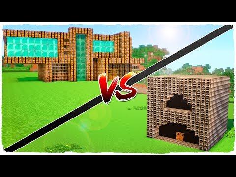 👉 Casa de HORNOS vs casa de MESA DE CRAFTEO - MINECRAFT