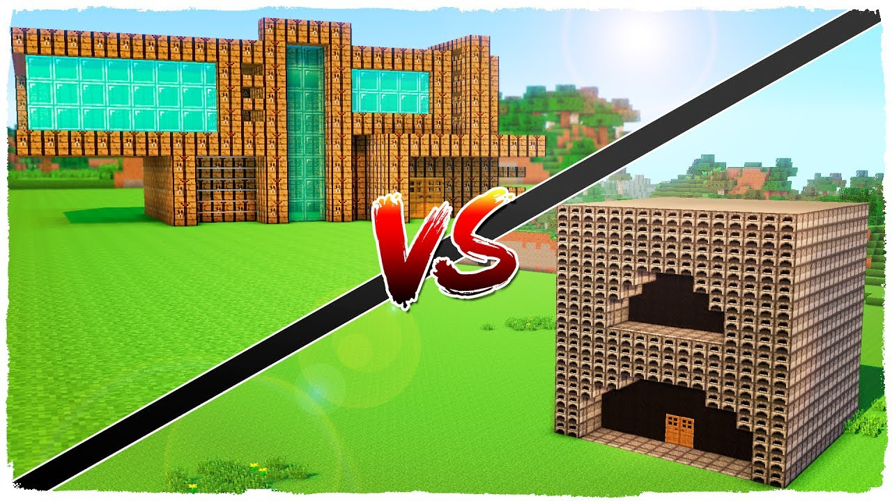 Casa de hornos vs casa de mesa de crafteo minecraft for Minecraft videos casas