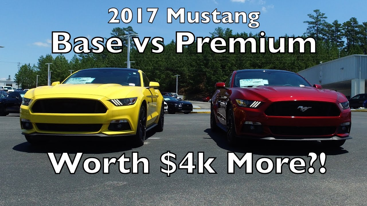 Mustang gt base vs gt premium whats different