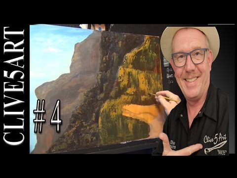 Mountains, Rocks #4, Acrylic painting for beginners,#CLIVE5ART