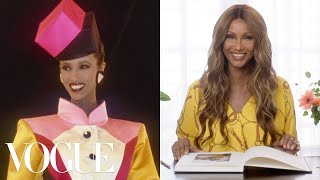 Iman Breaks Down 17 Looks From 1975 to Now | Life in Looks | Vogue