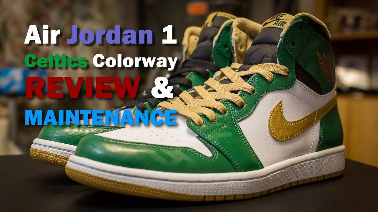 a80199f04e10 Air Jordan 1 Retro Celtics Colorway (Review   Maintenance) - YouTube