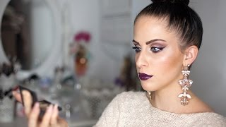 dramatic lilac makeup tutorial smokey eyes