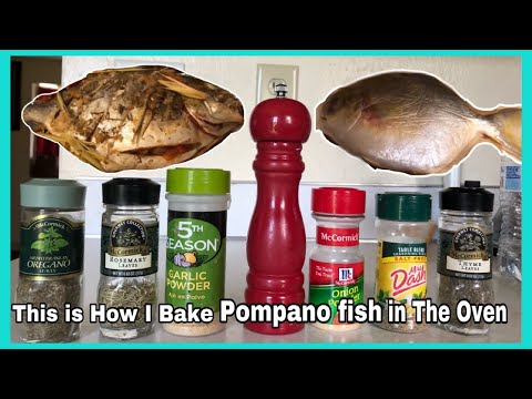 This Is How I Bake Pompano Fish In The Oven || Aileenkrellvlog