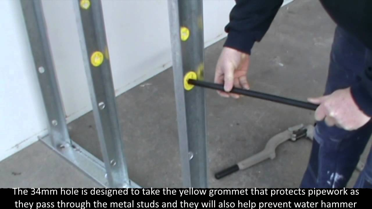 Steel Stud Drill by Plumtool - YouTube