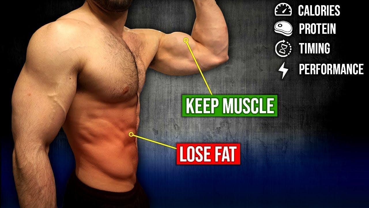 How To Lose Fat Without Losing Muscle (MAINTAIN MAXIMUM MUSCLE MASS!!)