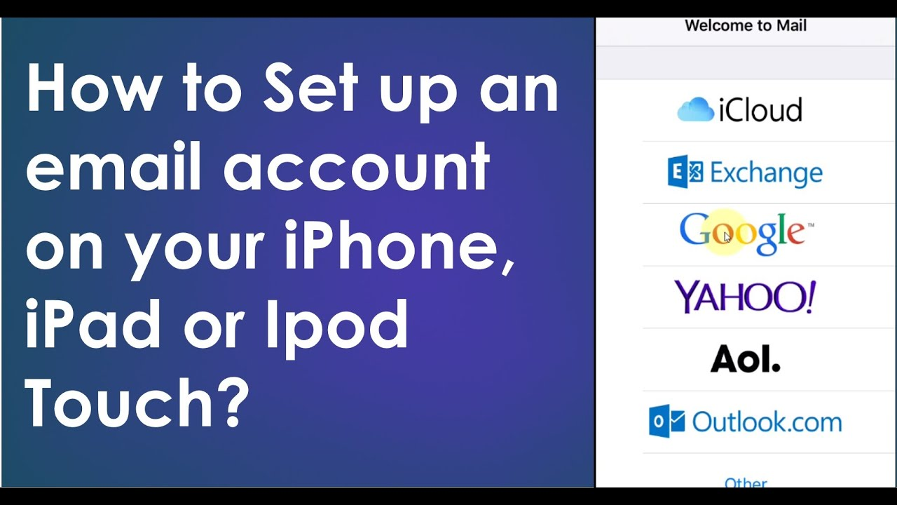 How to Set up an email account on your iPhone, iPad or Ipod Touch?