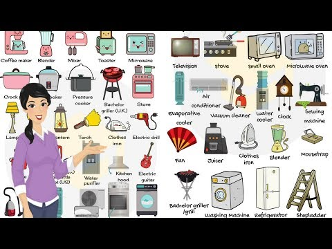 Household Appliances and Equipment Vocabulary in English | Home Objects for Kids