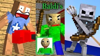 - Monster School Kick The Buddy Baldi s Basic Bowmasters Chllenge Mineraft Animation