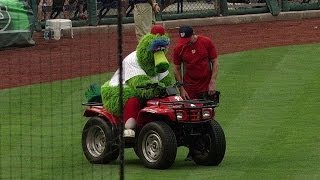Phillie Phanatic's ride runs out of gas