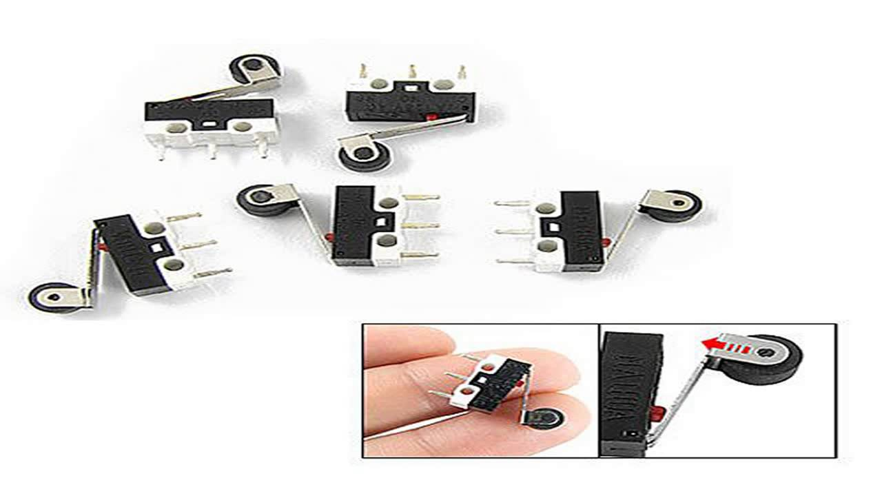 uxcell 10 pcs mini micro limit switch roller lever arm. Black Bedroom Furniture Sets. Home Design Ideas