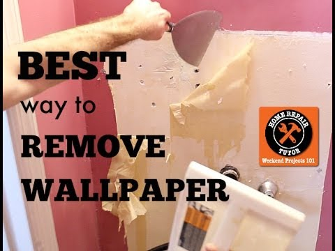 Best Way To Remove Wallpaper By Home Repair Tutor