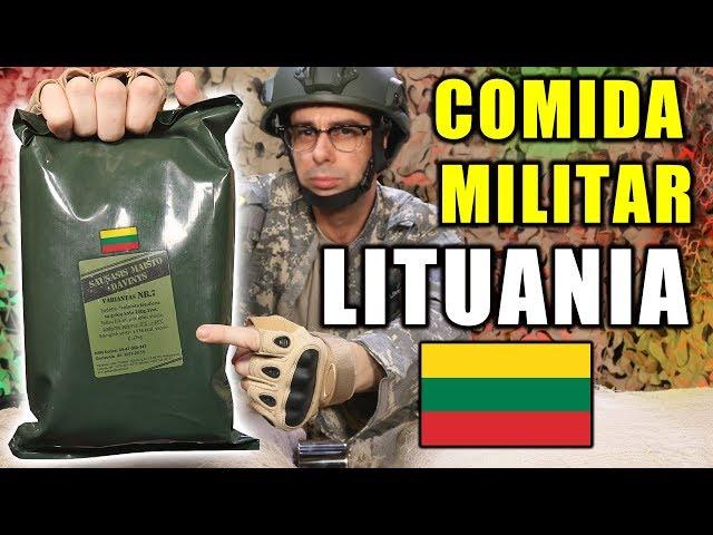 Probando COMIDA DE SUPERVIVENCIA MILITAR de LITUANIA