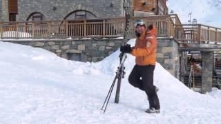 ★Карвинг Лыжи★ Урок 3 Как ходить в горнолыжных ботинках