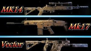 【ゴーストリコン ワイルドランズ】おすすめ武器紹介! SR「MK14」AR「Mk17」SMG「Vector」