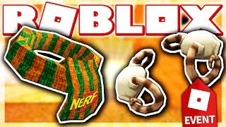 HOW TO GET NERF ZOMBIE STRIKE SCARF & SKELETAL SHOULDER PADS!! (ROBLOX HALLOW'S EVE EVENT - Azure)
