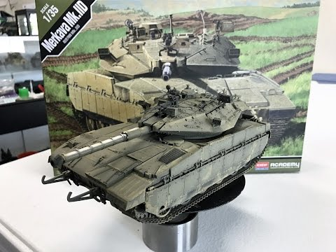 Building the Academy Models 1/35 Merkava II D