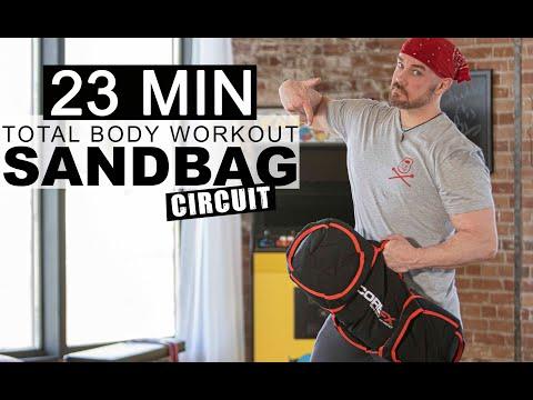 Sandbag Workout for beginners Weight Loss HIIT Training