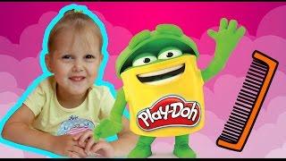 Плей До Сумасшедшие Прически Пластилин Делаем прически из пластилина Play doh