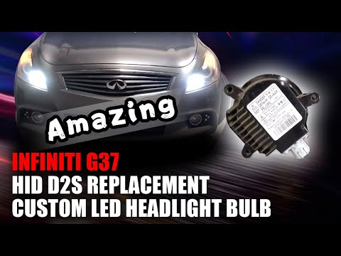 Perfect Replacement 2013 Infiniti G37 – How to upgrade D2S HID to LED Headlight Bulbs