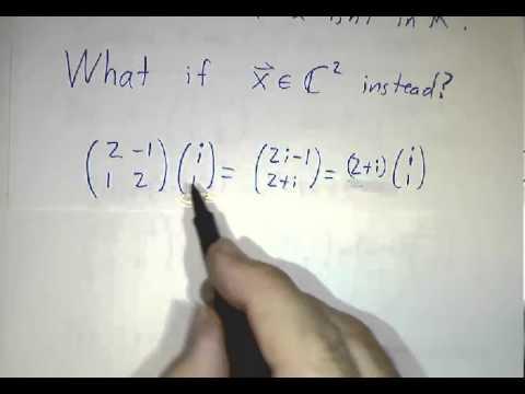 Complex Eigenvalues and Eigenvectors