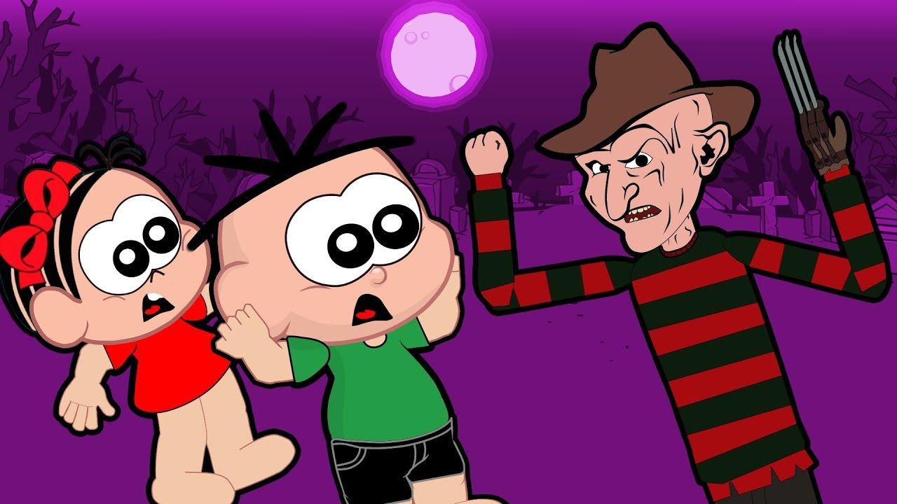 Mônica e Cebolinha Contra O Malvado Freddy Krueger - Desenho Animado