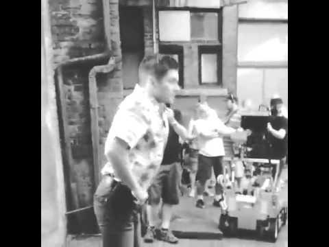 Jensen Ackles impersonating Mitch Pileggi