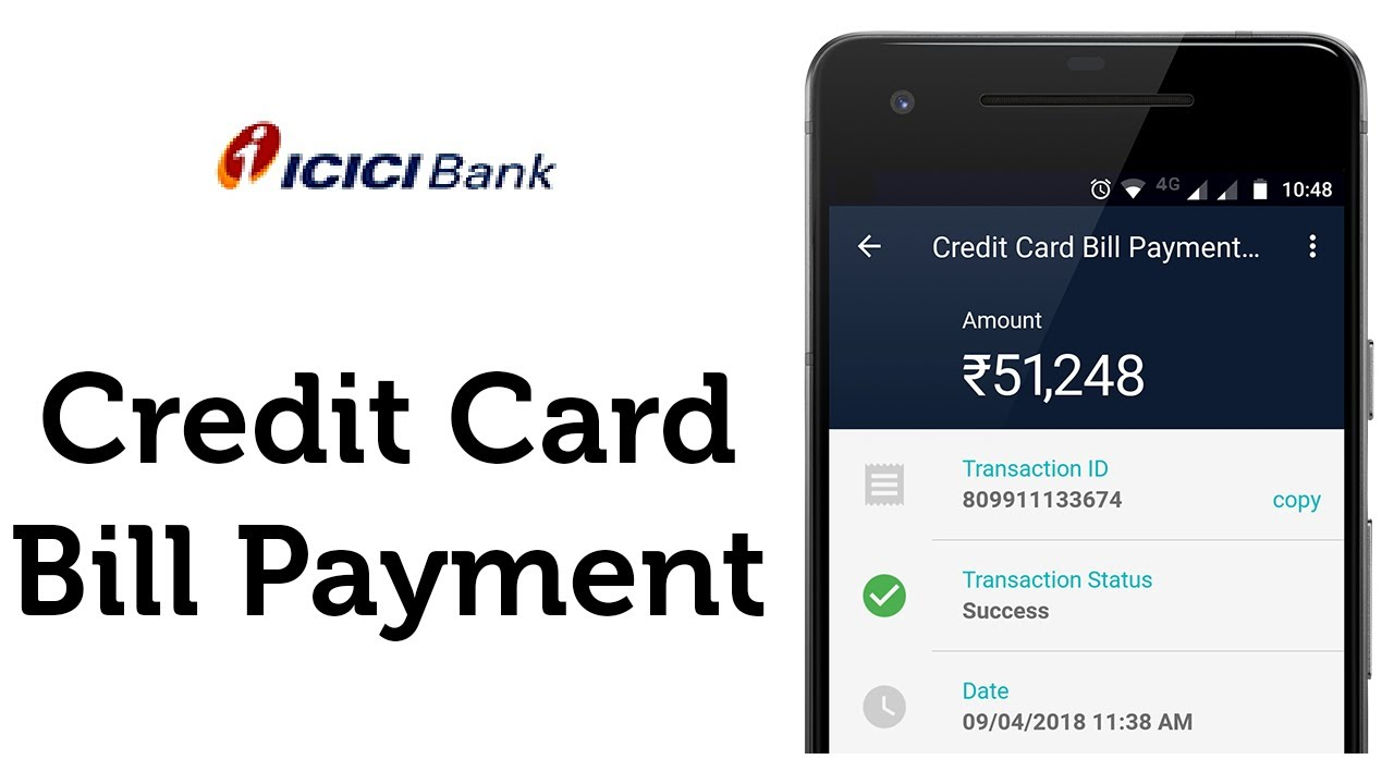 icici bank online credit card bill payment