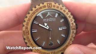 Got Wood? Konifer Navigator Army Wooden Watch Review And Video Review