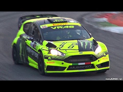 Valentino Rossi Driving His Ford Fiesta WRC - 2015 Monza Rally Show