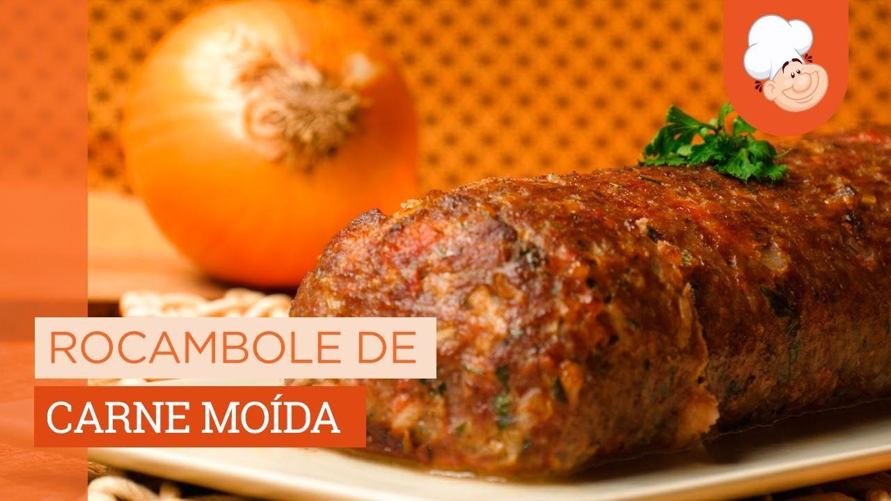 Receita Rocambole De Carne Moida