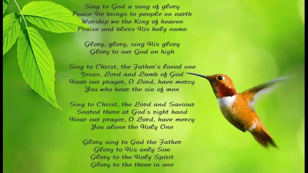 Sing with all the sons of glory lyrics