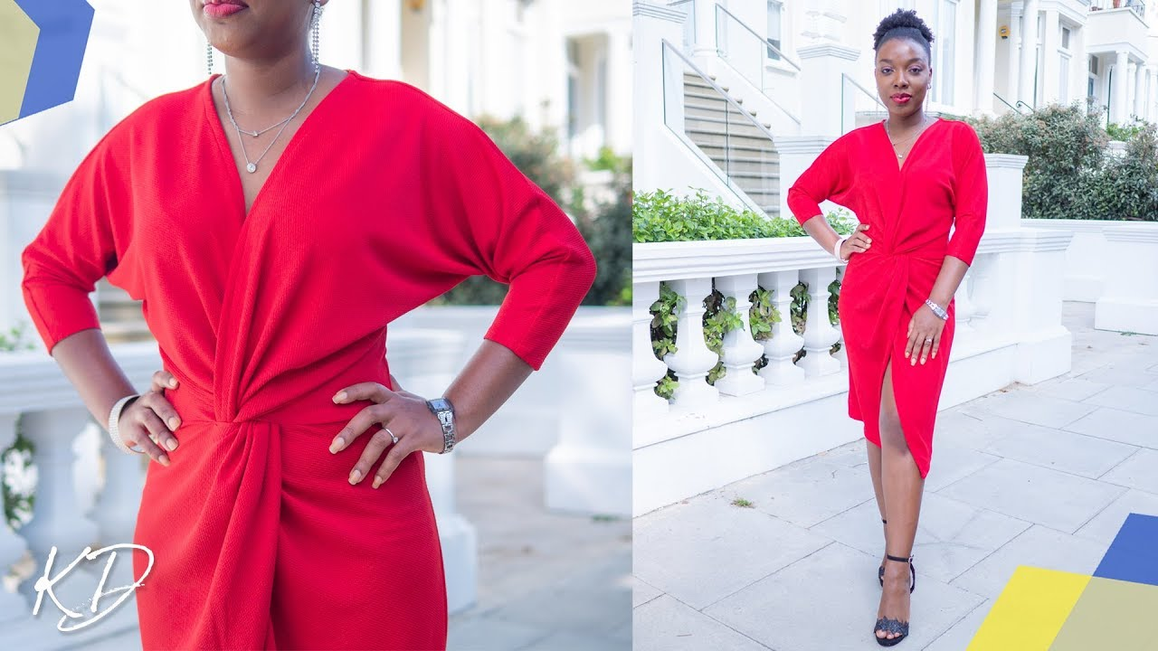 HOW TO SEW FRONT TWIST DRESS | KIM DAVE