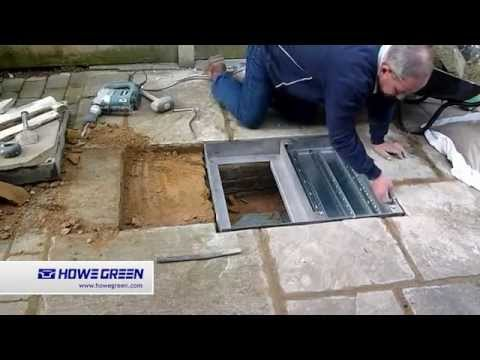 How To Fit A Floor Access Cover To A Paved Area Youtube